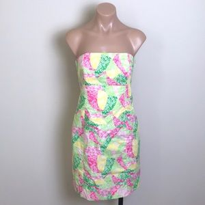 Lilly Pulitzer Franco Strapless Dress Wing Ding